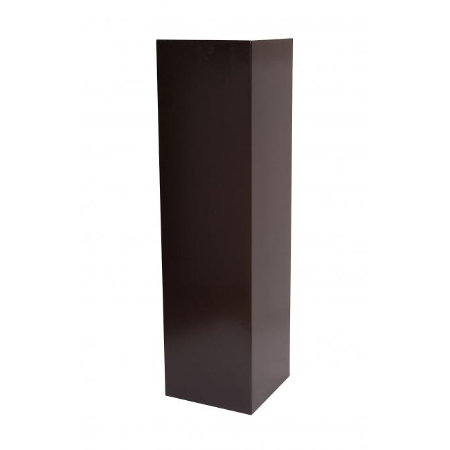 socle noir, 30 x 30 x 115 (lxLxh)