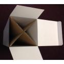 socle carton blanc, 30 x 30 x 80 cm (lxLxh)