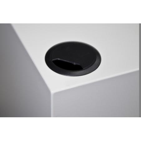 kabeldoorvoer 60 mm zwart (inclusief montage)