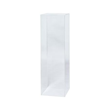 plexiglas sokkel, 25 x 25 x 100 cm (lxbxh)
