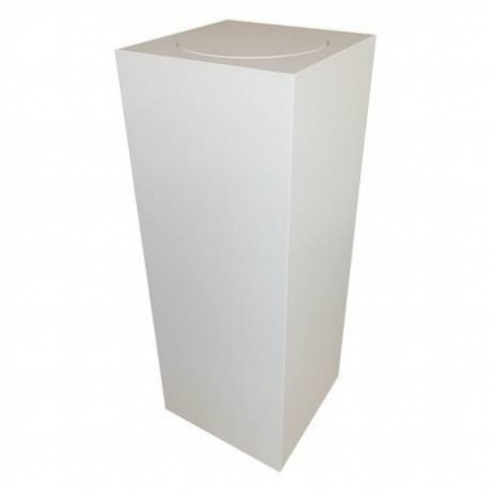 socle blanc avec plateau rotatif, 40 x 40 x 100 cm (lxLxh)