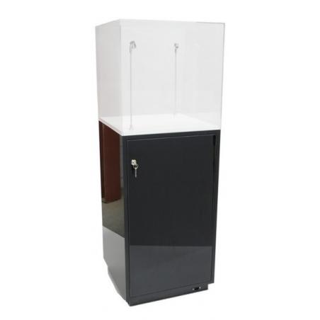 socle armoire noir brillant (porte et etagères), 50 x 50 x 100 (lxLxh)