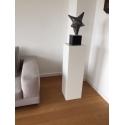 Solits sokkel wit, 30 x 30 x 100 cm (lxbxh)