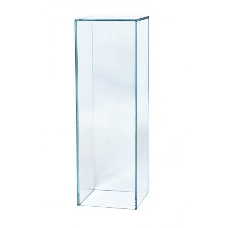 socle verre, 30 x 30 x 100 cm (lxLxh)