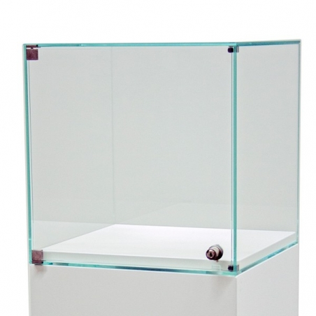 glazen vitrine-kap met deur, 40 x 40 x 40 cm (lxbxh)
