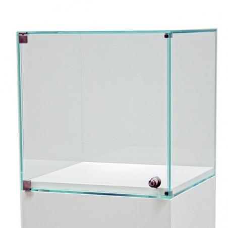 glazen vitrine-kap met deur, 50 x 50 x 50 cm (lxbxh)