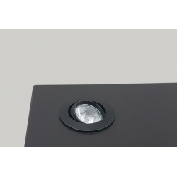 LED-Spot, Type 8, diam. 35mm. 1W, zwart