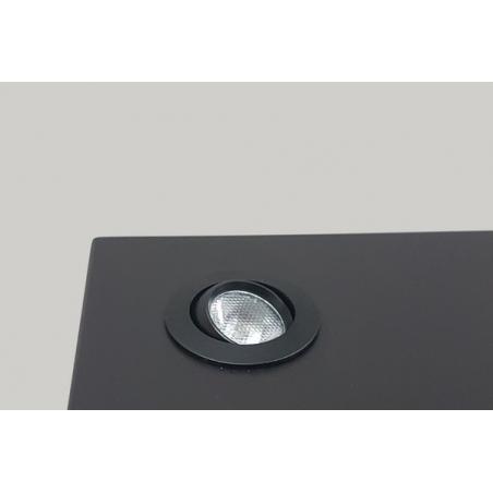 LED-Spot, Type 8, diam. 35mm. 1W, zwart