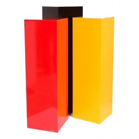 socle coloré, 30 x 30 x 60 cm (lxLxh)