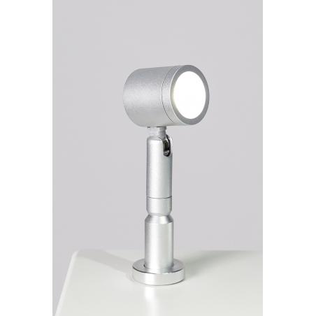 LED-Spot, Type 9 low model, 1W, 6000K, Silver (inclusief stroomkabel)