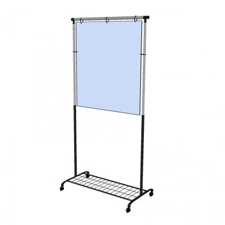 Staande plexiglas beschermwand / heldere afscherming voor balie - recht model