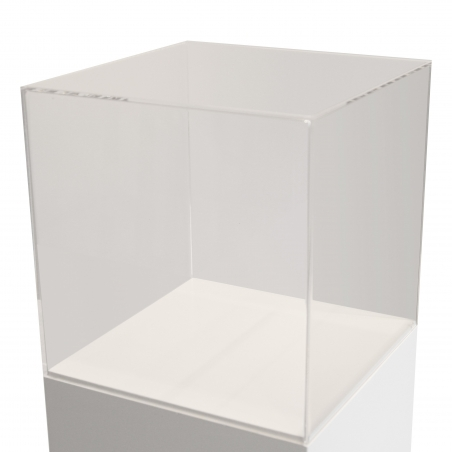 vitrine en plexiglas, 35 x 35 x 35 cm (lxLxh)