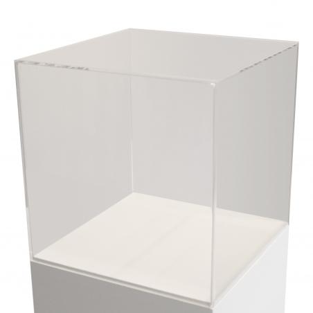 vitrine en plexiglas, 45 x 45 x 45 cm (lxLxh)