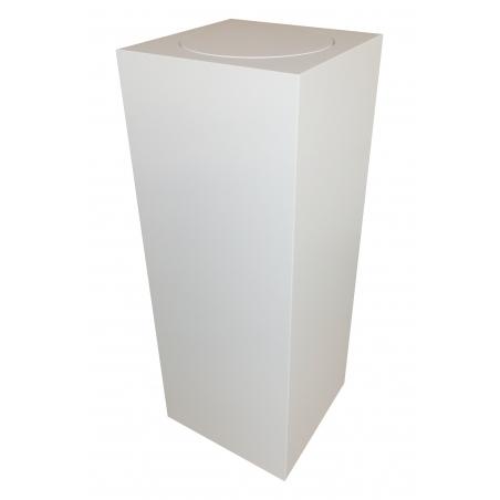 sokkel wit met rond draaiplateau, 30 x 30 x 100 cm (lxbxh)