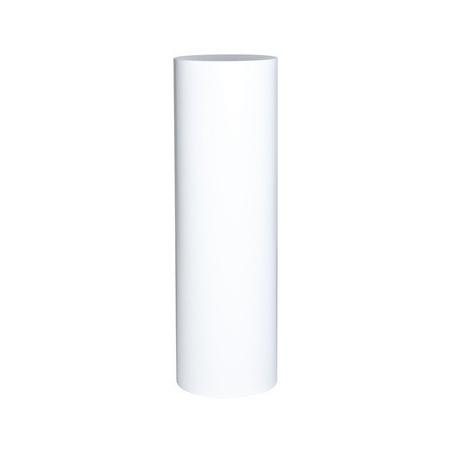 socle rond blanc, Ø 20 x 100 cm (h)
