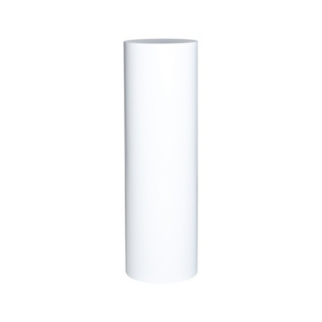 socle rond blanc, Ø 31,5 x 100 cm (h)